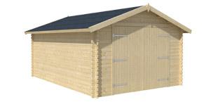 Garage bois Nova porte bois