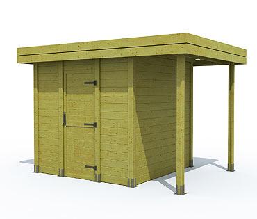 de Réalisations Quick'Lam > Construire un abri de jardin en kit